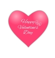 Happy valentines day Pink heart vector image vector image