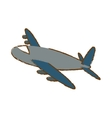 airplane icon image sketch style vector image