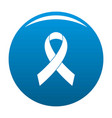 breast cancer awareness red ribbon icon blue vector image