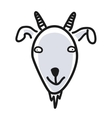 Cartoon animal head icon Goat face avatar for vector image