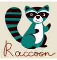 Cute of raccoon character vector image