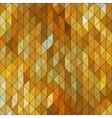 Geometric elegant gold yellow triangle sapphire vector image