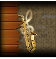 musical background blurred brick wall and wood vector image