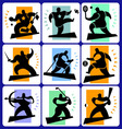 sports man icons vector image