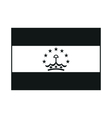 tajikistan flag monochrome on white background vector image