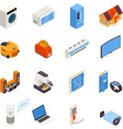 Smart Home Technology Isometric Icons Collection vector image vector image
