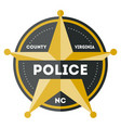 policeman sign with golden star icon vector image
