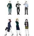 six businessmen set vector image