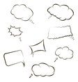 book speech bubble symbol set vector image vector image