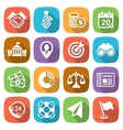 Trendy flat business and finance icon set 2 vector image vector image