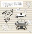 0415 16 teddy bear v vector image