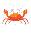 Cute crab isolated T-Shirt design for children vector image