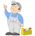 worker cartoon vector image