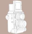 reflex film camera vector image vector image