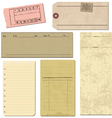 vintage paper elements vector image vector image