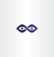 infinity eyes icon vector image