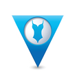 bathing suit symbol map pointer blue vector image