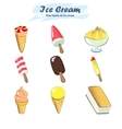 Collection of ice cream vector image