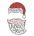 Face Santa Claus in hipster style vector image