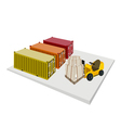 Forklift Loading Shipping Boxes vector image