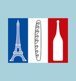 French tricolor Flag of national features of vector image