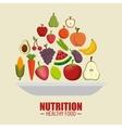 nutrition healthy food symbol vector image