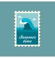 Ocean wave stamp Summer Vacation vector image