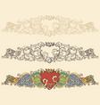 Set of renaissance heart borders vector image