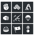 Set of Russia Airborne troops Icons vector image