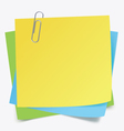 Sticker notes and clip vector image