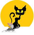 abstract cartoon cat vector image