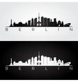 Berlin skyline silhouette vector image