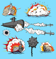 Set of warships vector image vector image