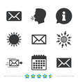 mail envelope icons message symbols vector image vector image