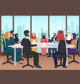 arab business people discussing meeting modern vector image