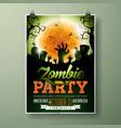 Halloween zombie party flyer vector image