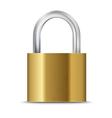 Closed padlock vector image