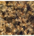 Abstract geometric polygonal brown background vector image