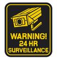 CCTV triangle symbols vector image