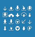 Download arrow icon set vector image