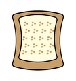 halved bread bakery breakfast design vector image