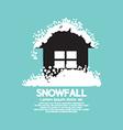 Heavy Snowfall On Home vector image