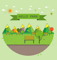 natural landscape flat modern linear style vector image