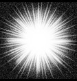 sunburst abstract black and white halftone vector image