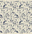 tailor shop seamless pattern with scissors iron vector image
