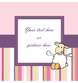 lovely pink baby card or frame vector image vector image
