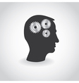 Cogs or gears in human head vector image vector image