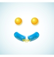 Smile of pills vector image vector image