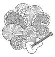 guitar coloring book vector image