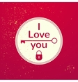 Valentines Day typography vector image